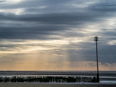 Stormy coastline sky (Nigel Wallace1) Tags: hunstanton sky bigsky moodysky dramaticsky coastal coast sea seascape clouds cloudscape cloud nopeople norfolk uk olympusuk olympus 40150 horizon landscape landscapes england eastanglia