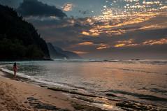 20140201-_DSC5388 (bfluegie) Tags: hawaii kauai keebeach beach ocean sunset water d90 nikond90