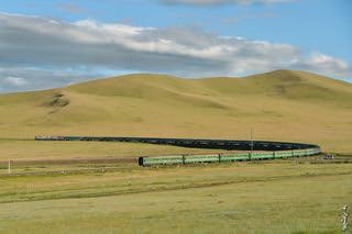 Passenger train Ulaanbaatar - Dzamyin uud...