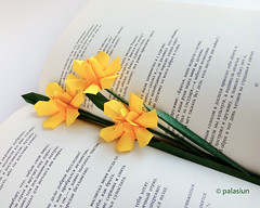 narcissus origami (polelena24) Tags: origami flower narcissus daffodil hexagon