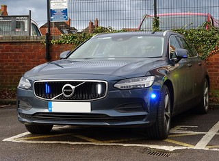 Warwickshire and West Mercia Police Operational Patrol Unit Unmarked Volvo V90 Armed Response Vehicle, Coleshill Police Station.