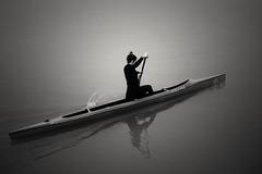 Estela working hard. (Fencejo) Tags: canon600dt3ikissx5 canonefs24mmf28stm blackwhitebwstreetcityblackandwitestreetphotographymonochrome ebro river zaragoza snapseed