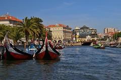 Aveiro.  Portugal. (blanferblanc) Tags: canal casas palmeras portugal aveiro