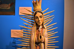 Guadalupe (thomasgorman1) Tags: wood gesso paint guadalupe nikon virgin artwork art figure religious nm southwesty museum spanish colonial history