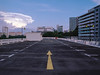 In The Distance (OzGFK) Tags: 120 645 asia kodak kodakektar pentax645n singapore analog carpark clouds dusk evening film mediumformat rooftop sunset twilight hdb starvista buonavista