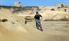 On the Beach (Gee & Kay Webb) Tags: mtb mountainbike bike bicycle cycling riding outdoors malta beach sky sand