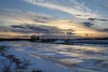 mid-winter melt on the Mississippi (Barbara A. White) Tags: mississippiriver hwy17 ontario westcarletoncounty snow ice sunset clouds reflections winter landscape