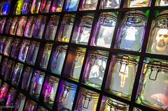Jar souls  | SEEK (Crosshatchs) Tags: jar soul memories glass perspective box 28 nikon 7000 barcelona art installation design crosshatch face body spirit life death start end rumi quote seek seeking truth mystic colors transparent grid boxes