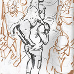 Guy with horse seen from bus Suzanne Forbes Jan 26 2018 thumbnail