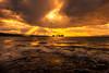 sunset 3337 (junjiaoyama) Tags: japan sunset sky light cloud weather landscape orange yellow contrast colour bright lake island water nature fall autumn rays beams wave