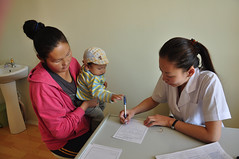 41119-012: Third Health Sector Development Project in Mongolia (Asian Development Bank) Tags: mongolia mngzuunmod tovprovince 41119 41119012 mongolian people women doctor medicalpractitioner physician family relatives mother baby infant child kid patient consultation checkup health healthcare healthservices healthclinic medicalclinic clinic healthcenter hospital zuunmod tövprovince mng