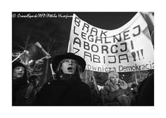 _ATI5539 b (attila.husejnow) Tags: warsaw poland rally demonstration demonstrate demo protest strike march street abortion ban restriction police policeman violence clash arrest warszawa sign board flag waving polska