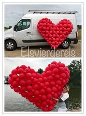 XXL ballonnenhart rood