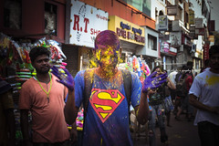 """Rang De Basanthi"" #Holi2018 (@LeFraming) Tags: holi color truecolor festival india southindia chennai tamilnadu nikon iamnikon red yellow green pink magenta purple blue cyan rgb cmyk street photography portraits people face joy happy celebration"