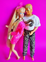 1992 Hollywood Hair Barbie & Ken Doll (The Barbie Room) Tags: 1992 hollywood hair barbie doll 2308 ken 4829 1990s 90s star movie gold golden stars rollerblade