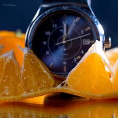 A Clockwork Orange - MM 18#3 (Normann Photography) Tags: macromondays myfavouritenovel swatch swiss clock closeup macro makro novel orange wristwatch