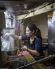 Noodle Shop (allentimothy1947) Tags: chef food people places taichung taiwan woman bags cook cooking dinner eater hunger meal noodle portrait preparation sauce she standup steam restaurant eat
