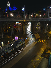 Lausanne during night (Carandoom) Tags: night 2017 lausanne switzerland long exposure light bâtiment route sony rx10