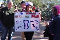 (ONE/MILLION) Tags: downtown phoenix arizona woman women freedom march protest demonstration trump donaldtrump president united states city streets people crowds signs flags norwegian vote politics williestark onemillion dicks pussy clown high elections fuck power shithole tshirts