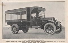 30cwt Graham-Dodge Truck - 1920s (Aussie~mobs) Tags: grahamdodge truck delivery parcel brisbane queensland australia vintage manly chbarnett dornochterrace westend