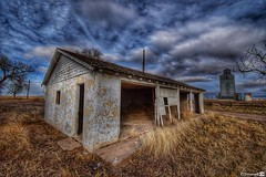 Dilapidated Garage (CTfotomagik) Tags: weldcounty wideangle nikon northerncolorado ruraldecay sky clouds garage