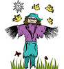 Cartoon Scarecrow with Birds Vector T-shirt Design (stockgraphicdesigns) Tags: agriculture animals birds butterfly cap caricature cartoon character child childhood childish children comic costume crop crow cute doll dress dummy farm farmer field figure fly flying fun funny glee green guard halloween happy harvest hat hay human joy joyful kids little male man manikin monster protection raven rook scare scarecrow scary smartpack14 spooky stand straw sun toy yield