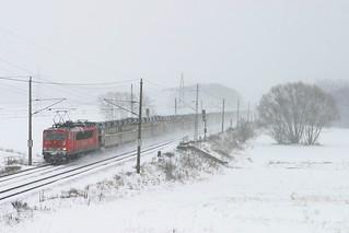 DB 155 255 + Güterzug - goederentrein - freigh train  - Nudow