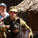RAMSI security dog and handler. Solomon Islands 2003. Photo: © Gary ramage, Australian Defence