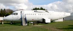 G-JEAO BAe 146-100 fuselage, ex-Jersey European Airways (kitmasterbloke) Tags: dehaviland museum londoncolney hertfordshire uk aviation wreck relic wr civil airliner jet