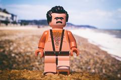Monobrow Mankini Man (Jezbags) Tags: monobrow mankini lego legos toy toys beach canon canon80d 80d 100mm closeup upclose macro macrophotography macrodreams macrolego sunburnt