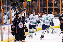 "Kansas City Mavericks vs. Florida Everblades, February 18, 2018, Silverstein Eye Centers Arena, Independence, Missouri.  Photo: © John Howe / Howe Creative Photography, all rights reserved 2018 • <a style=""font-size:0.8em;"" href=""http://www.flickr.com/photos/134016632@N02/39491136475/"" target=""_blank"">View on Flickr</a>"
