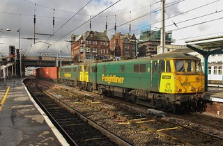 Freightliner Class 86s Nos 86639 & 86608 at Carlisle - 17th February 2018