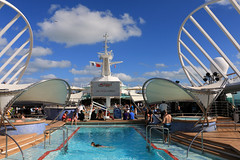 Outdoors Pool on  'Enchantment of the Seas' (Rick & Bart) Tags: florida bahamas cruise cruiseship travel rickvink rickbart canon eos70d pool royalcaribbean