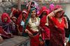 Pilgrims. Pushkar. Rajasthan. India. (Tito Dalmau) Tags: pilgrims women puja lake sacred colours pushkar rajasthan india