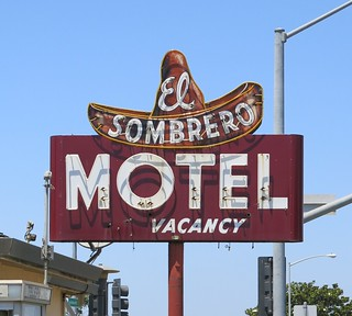 El Sombrero Motel - Salinas, Calif. - sign by Electrical Products Corporation.