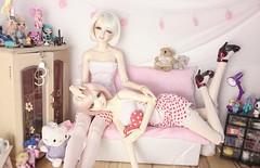 Girls' Valentine's Day (Anerianek) Tags: bjd soom sadol dalha lilian aprilstory 4sdoll