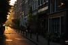 Sunset in Amsterdam (-Kj.) Tags: amsterdam street goldenlight sunset lowsun diagonal housefront