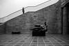 Fallen from heavens / Welcome Sisyphos (Özgür Gürgey) Tags: 2017 20mm bw d750 hamburg kunsthalle nikon voigtländer architecture art climbing falling gallery hall lines people railings sculpture steps