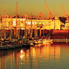 golden marina, brest (eric-foto) Tags: centreville pennarbed nikond800 port harbour reflets sunset finistère bretagne breizh brittany bzh brest voilier sailingboat portdeplaisance goldenhour