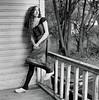 Jess 1 (neohypofilms) Tags: series portrait medium format 120 film hasselblad retro vintage style fashion shoes white wood clogs leggings hair wrap porch blackwhite bw classic 60s 70s