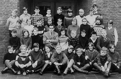 Class Photo (theirhistory) Tags: children kids boys school trousers shirt jumper wellies girl dress boots shoes teacher glasses