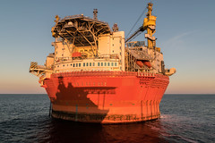 Suspicious shadow (SPMac) Tags: arctic circle barents sea norway lights eni norge goliat fpso 71227 floating production storage oil gas maersk supply service rem forza subsea light construction vessel multi mt6022 ssv