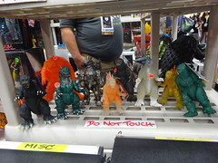 More Godzillas (and some guy's gut in the background) (Sconderson Cosplay) Tags: comic con san diego sdcc 2016 godzilla