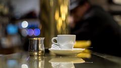 Voigtländer Nokton Classic SC 40 mm f/ 1.4 - DSCF6675 (::nicolas ferrand simonnot::) Tags: voigtländer nokton classic sc 40 mm f 14 2010s | 10 blades aperture leica m coffee cup sugar milk depth field dof bokeh vintage manual german fixed length prime lens street photography bar pub