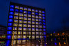 Stuttgarts New Modern Library (Brian Out and About) Tags: nikon d5200 stuttgart germany library stadtbibliothek bluehour longexposure city lights modern architecture copyright2018brianblair