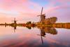 IMG1710128442 (Ian Joseph L Abasolo) Tags: europe netherlands windmills kinderdijk sunset alpenglow pastel
