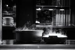 Devil's Food (sdupimages) Tags: steam vapeur fumes cuisine kitchen food monochrome bokeh mbt hmbt nb bw noirblanc blackwhite