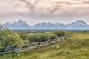 Grand Teton to Mt Moran (Ronnie Wiggin) Tags: grandtetontomtmoran gtnp grandtetonnationalpark grandtetons landscape scenic mountains fenceline snowcovermountains clouds jacksonhole jacksonwyoming usnationalpark