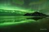 Emerald Echos (http://www.richardfoxphotography.com) Tags: lofoten islands lofotenislands skagsanden aurora northernlights flakstad reflections beach coastal surf outdoors norway