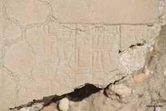 Eridu, cuneiform stamped tile (7).JPG (tobeytravels) Tags: iraq sumerian enki akkadian eridug worldsfirstcity ziggurat